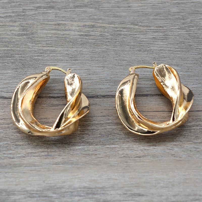Womens Geometry Electroplating Alloy Earrings NHNT154505