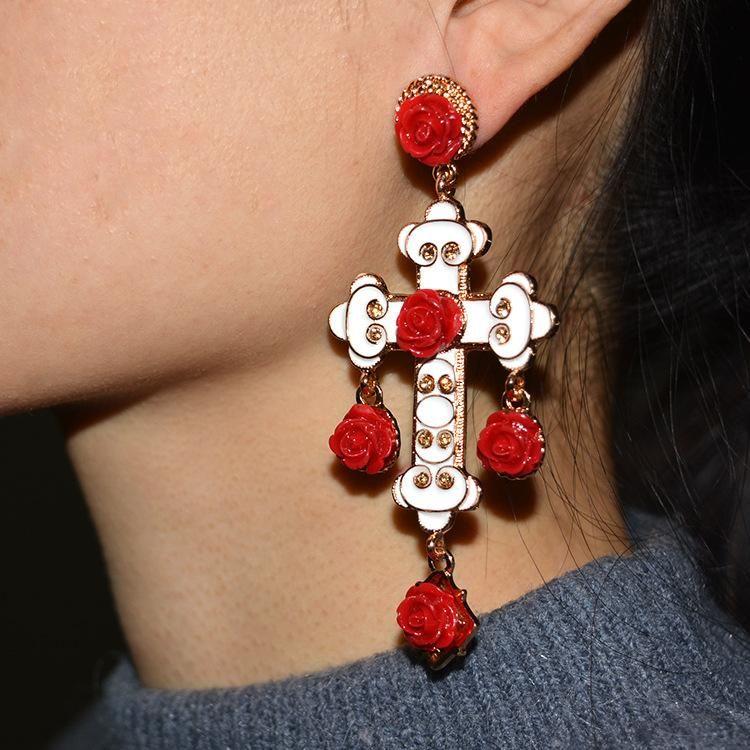 Womens Geometry Electroplating Alloy Earrings NHNT154507