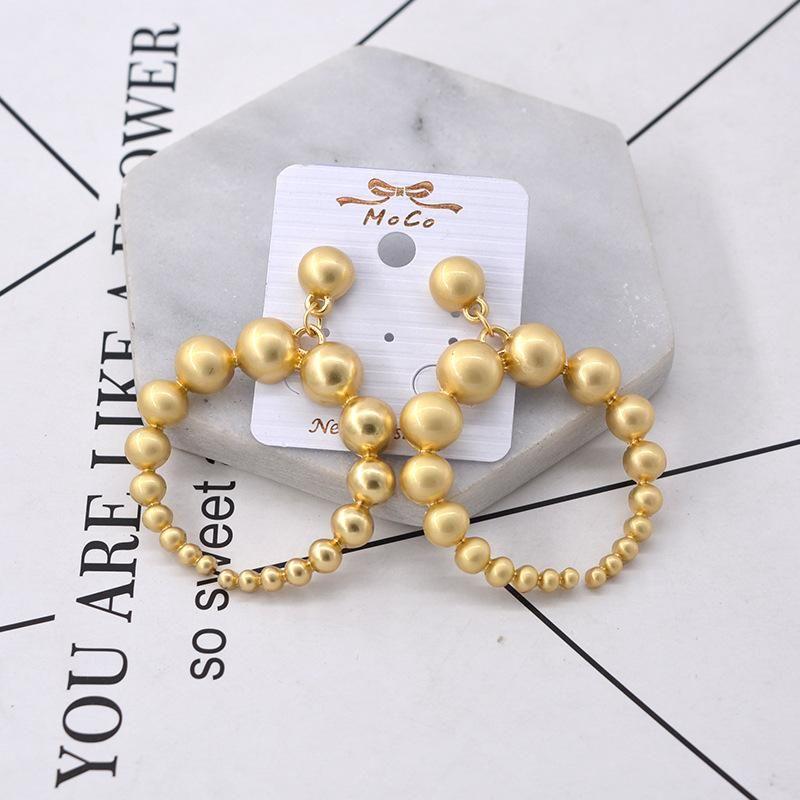 Womens Geometry Electroplating Alloy Earrings NHNT154508