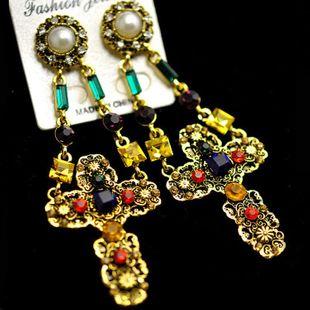 Pendientes vintage de piedras preciosas cruzadas NHNT154534's discount tags