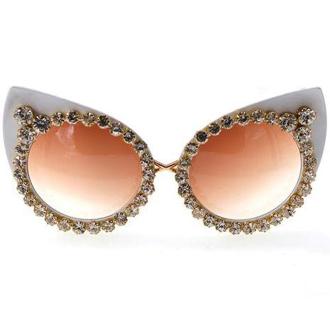 Baroque diamond cat eye fashion sunglasses sunglasses NHNT154536's discount tags