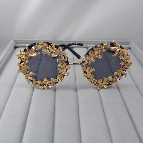 Vintage openwork carved fish flower butterfly sunglasses NHNT154546's discount tags
