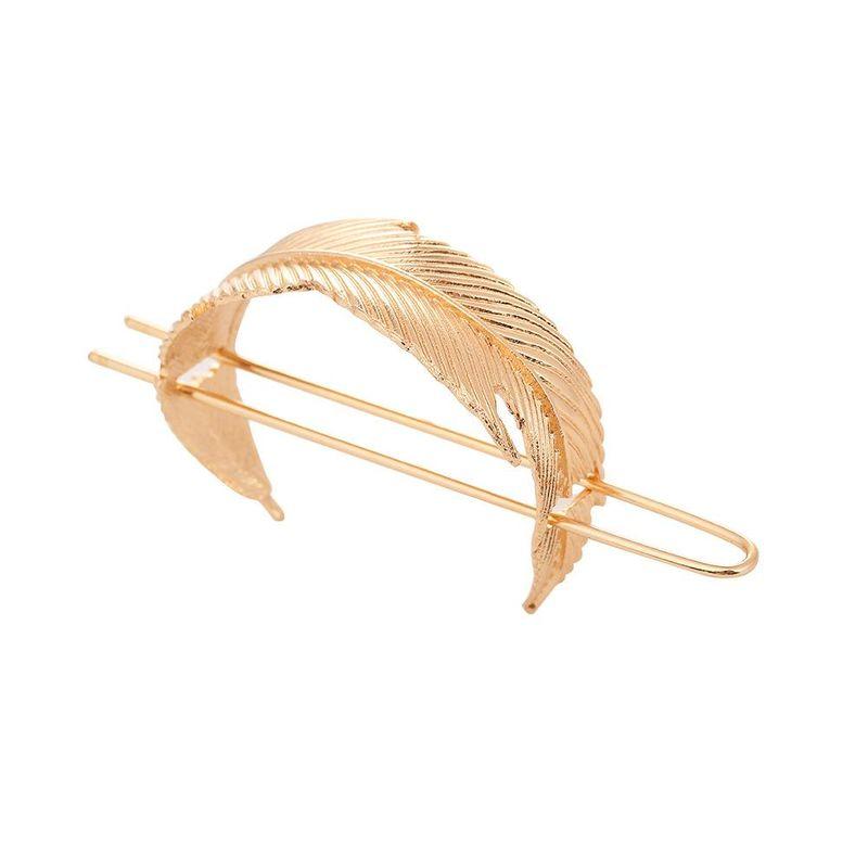 Vintage alloy leaves bun antique hair accessories NHHN154559