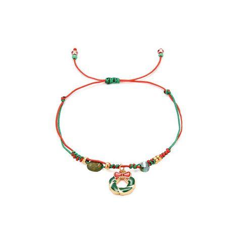 Sleek minimalist Christmas alloy woven bracelet NHXS154563's discount tags