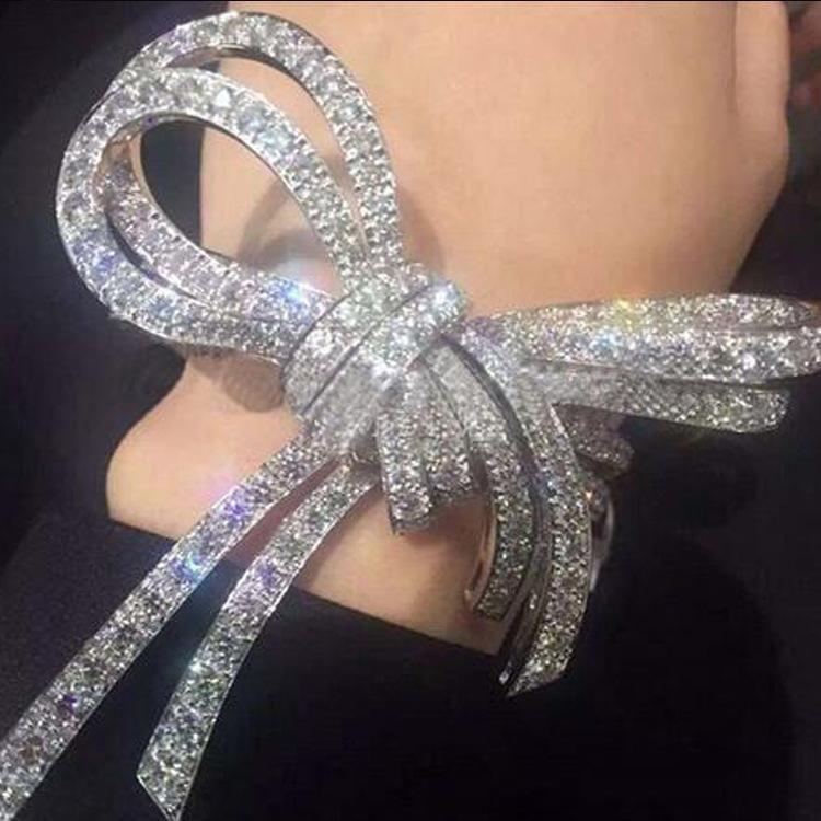 Womens Bow Plating Alloy Bracelets & Bangles NHNT154565