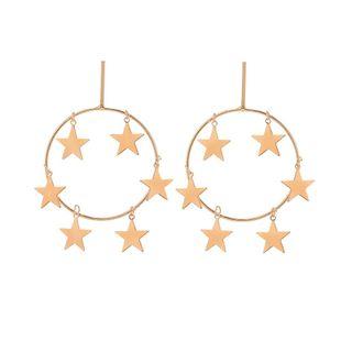Pendientes de estrella de cinco puntas con estrellas geométricas de aleación simple NHHN154570's discount tags