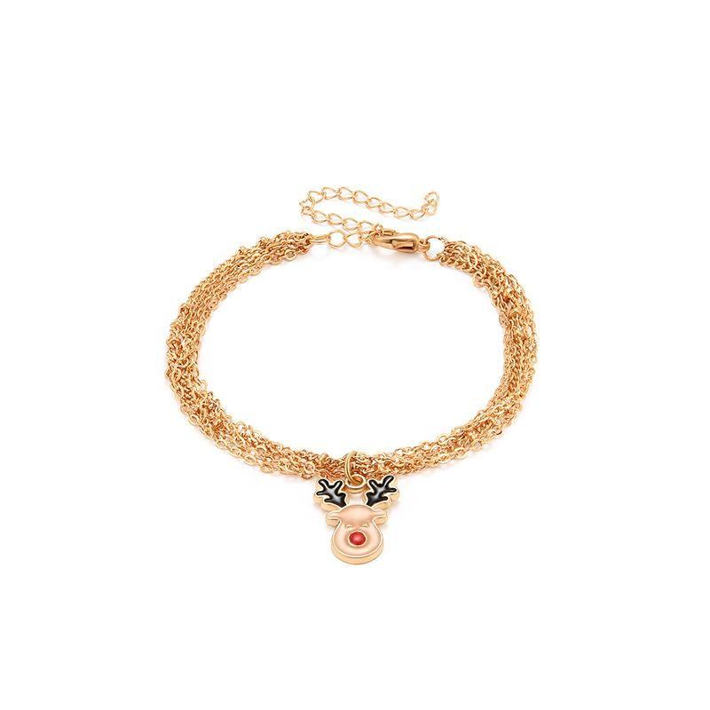 Fashion Christmas Elk Women's Alloy Bracelet NHXS154571