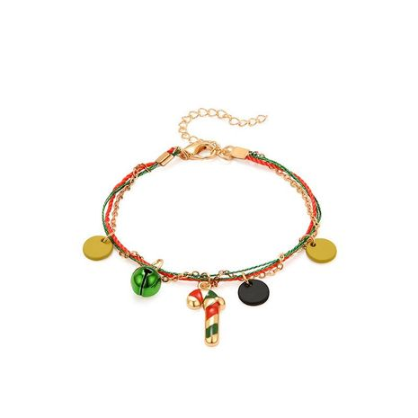 Fashion Christmas Cane Christmas Bell Bracelet NHXS154577's discount tags