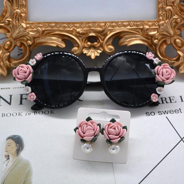 Elegantes gafas de sol con forma de flor con lazo NHNT154606