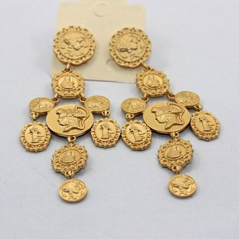 Coin Court Style Retro Exaggerated Nightclub Ladies Earrings NHNT154615's discount tags