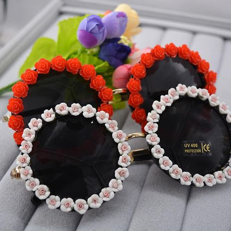 Baroque magnetic flower handmade ladies sunglasses NHNT154638's discount tags
