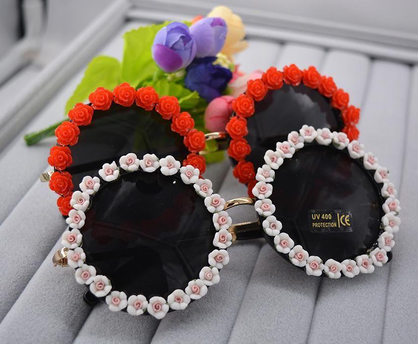 Baroque magnetic flower handmade ladies sunglasses NHNT154638