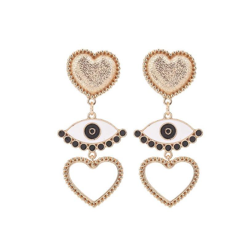 Fashion Drops Devil's Eyes Eyes Love Earrings NHHN154636