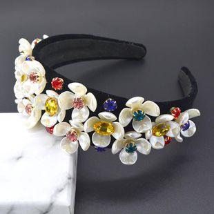 Diadema de perlas de cristal negro de circonio estilo vintage NHNT154639's discount tags