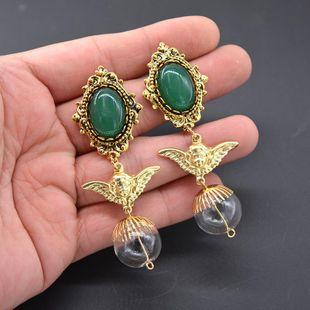 Pendientes y ángel vintage con bola de cristal NHNT154643's discount tags