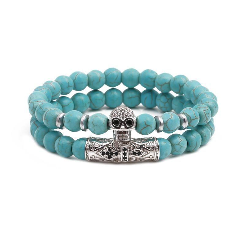 Natural stone set bracelets beads energy turquoise bracelet NHYL154659
