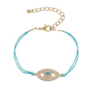 Pulsera simple de aleación de imitación de piedras preciosas Fatima Devil's Eye Eye NHHN154665's discount tags