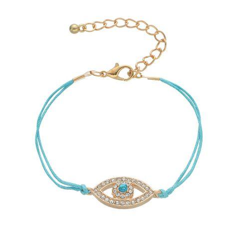 Simple Alloy Faux Gemstone Fatima Devil's Eye Eye Bracelet NHHN154665's discount tags