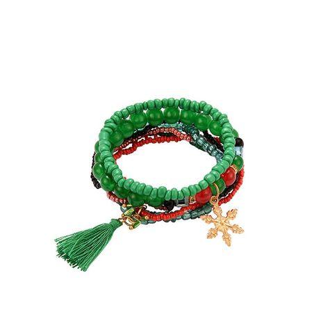 Bohemian multi-layer rice bead bracelet NHXS154671's discount tags