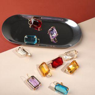 Aretes cuadrados de diamantes de imitación de color simple de moda NHLL154686's discount tags