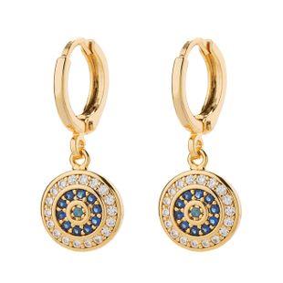 Aretes de aro de diamantes de color de aleación de moda NHLL154691's discount tags