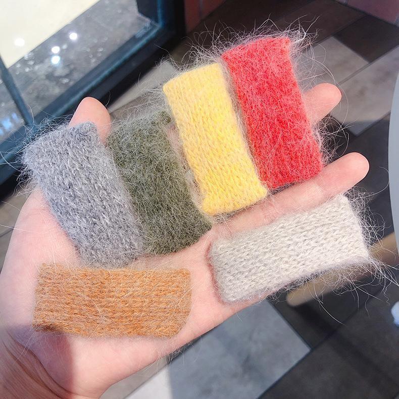 Sweet rectangular wool hair clip NHMS154749