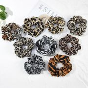 Color leopard print hair band chiffon hair rope NHOF154756