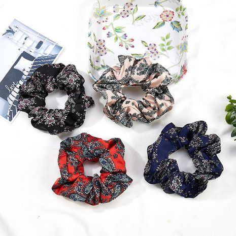 New large intestine hair ring fabric head flower hair rope NHOF154770's discount tags