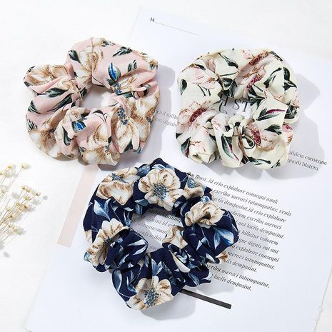 New printed chiffon hair rope NHOF154780's discount tags