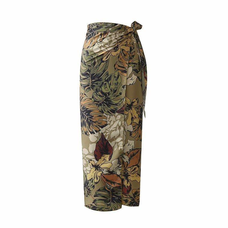 Summer flower skirt, hip skirt NHAM154833