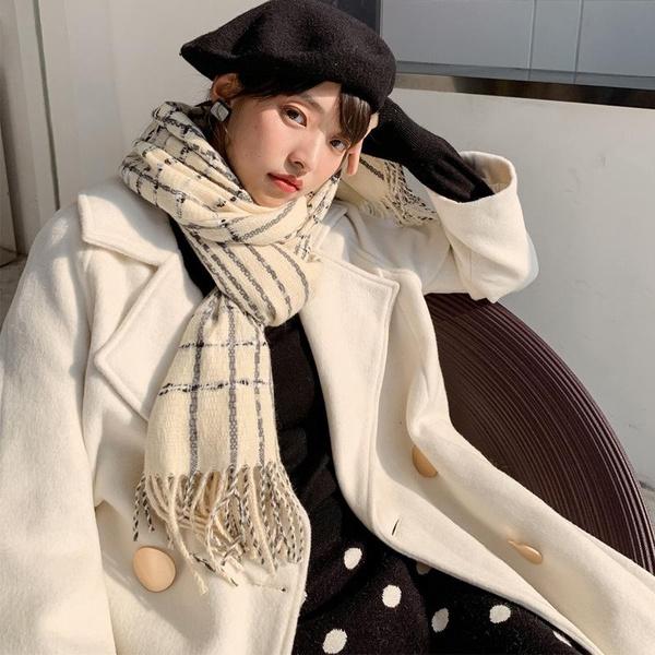 Autumn and winter plaid big shawl dual-use wild winter bib NHTZ154874
