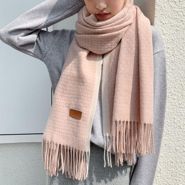 Autumn and winter college style cashmere long scarf NHTZ154877