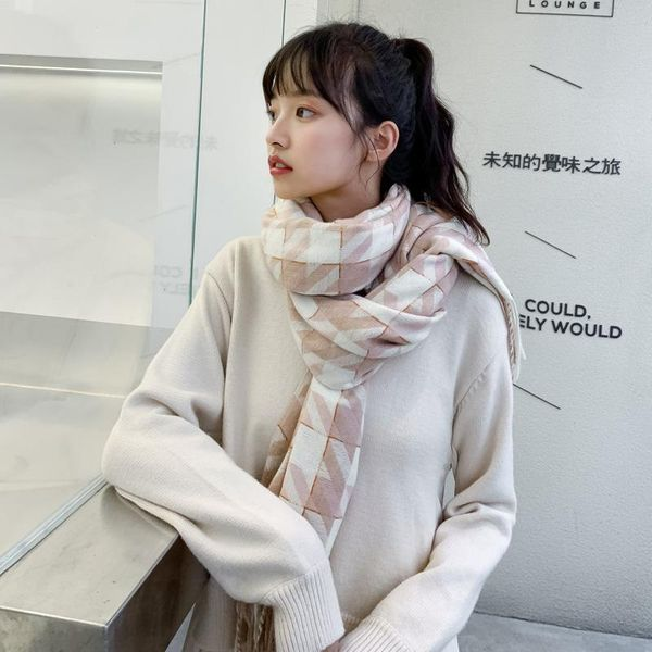 Fashion imitation cashmere thickening student collar NHTZ154882