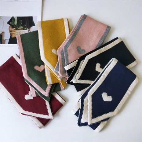 Long Korean couple knitting wool scarf NHMN154959's discount tags