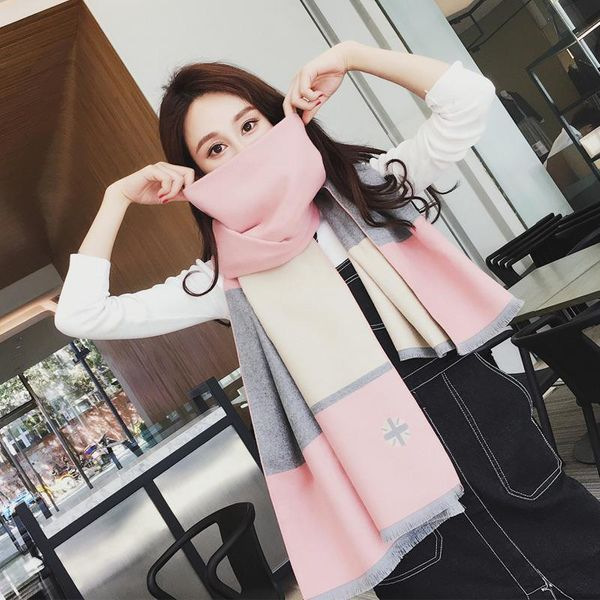 Autumn and winter new color matching imitation cashmere scarf NHTZ154979