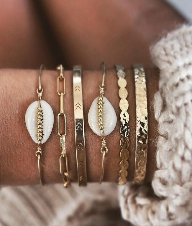 Womens Shell Plating Alloy Bracelets & Bangles NHGY155020