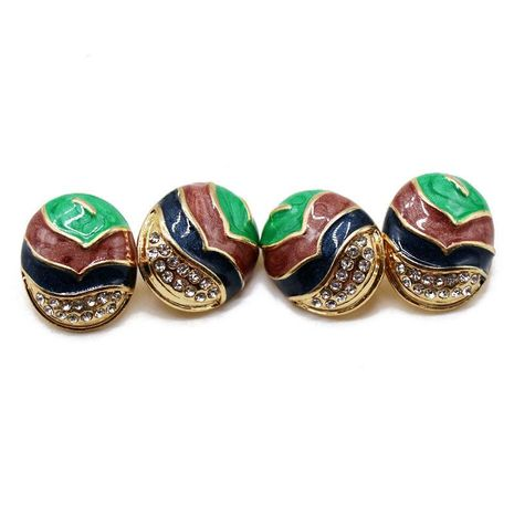 Vintage fashion color matching alloy earrings NHOM155032's discount tags