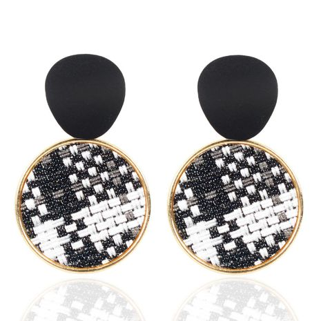 Temperament round braided classical alloy earrings NHCT155061's discount tags