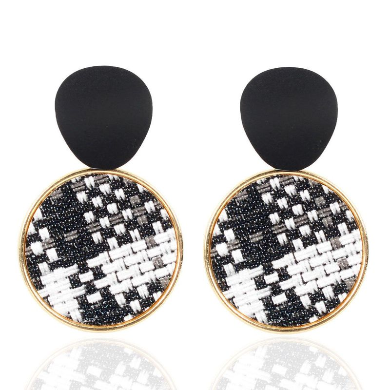 Temperament round braided classical alloy earrings NHCT155061