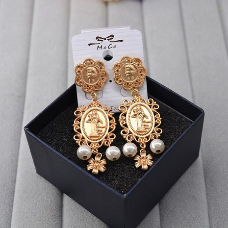 Womens Cartoon Character Plating Alloy Earrings NHNT155069's discount tags
