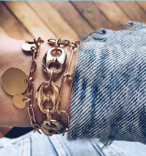 Fashion round chain alloy bracelet NHGY155075