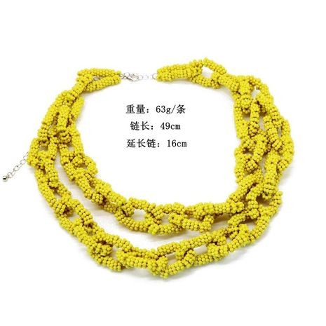 Fashion snowflake shape resin woven necklace NHOM155081's discount tags