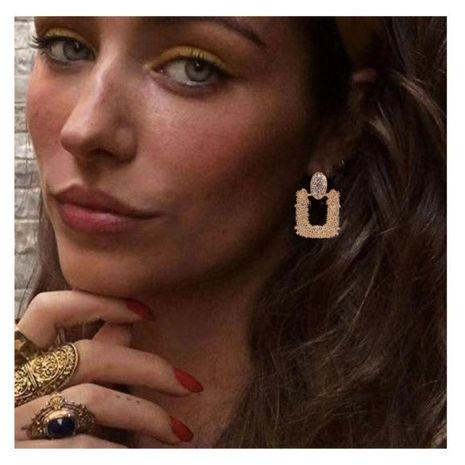 Sleek minimalist bohemian electroplated alloy earrings NHCT155084's discount tags
