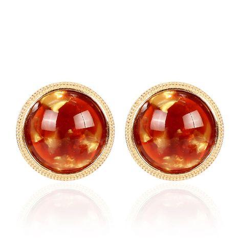 Korean retro simple resin small earrings NHCT155126's discount tags