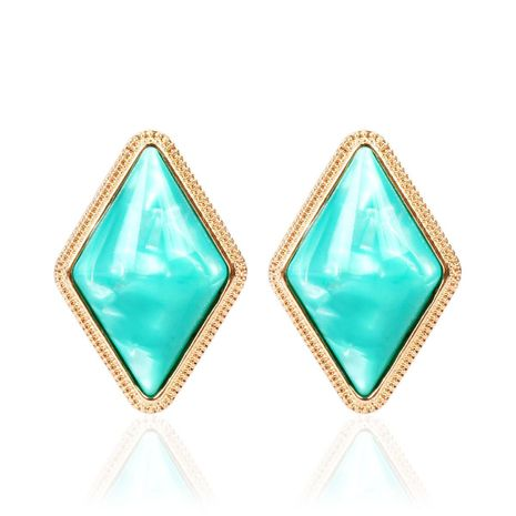Fashion simple quadrilateral resin earrings NHCT155127's discount tags