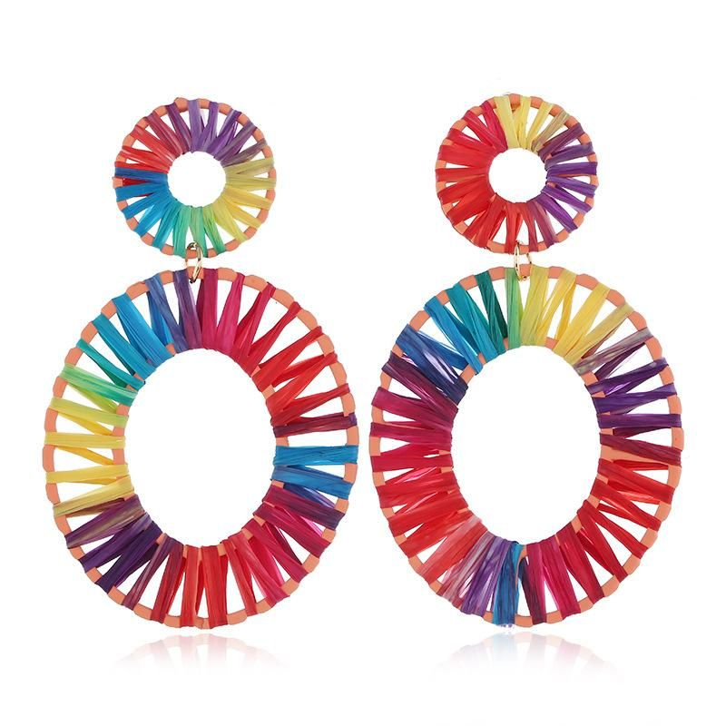 Fashion ethnic style hand-woven earrings NHVA155130