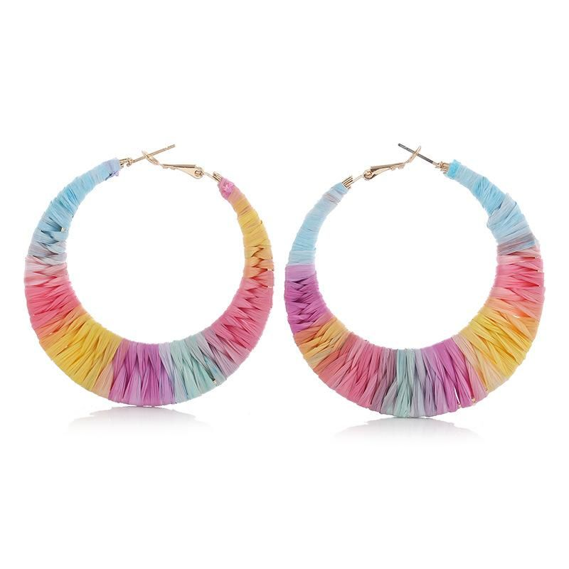 Womens Geometry Electroplating Alloy Earrings NHVA155131