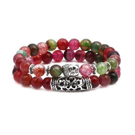 Bracelets & Bracelets Unisexe Tête de Bouddha Vert NHYL155138's discount tags