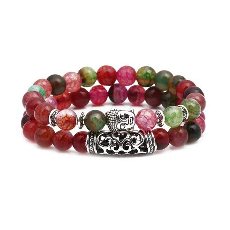 Unisex Buddha Head Green Bracelets & Bangles NHYL155138's discount tags