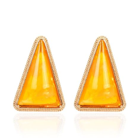 Fashion simple geometric triangle resin earrings NHCT155141's discount tags